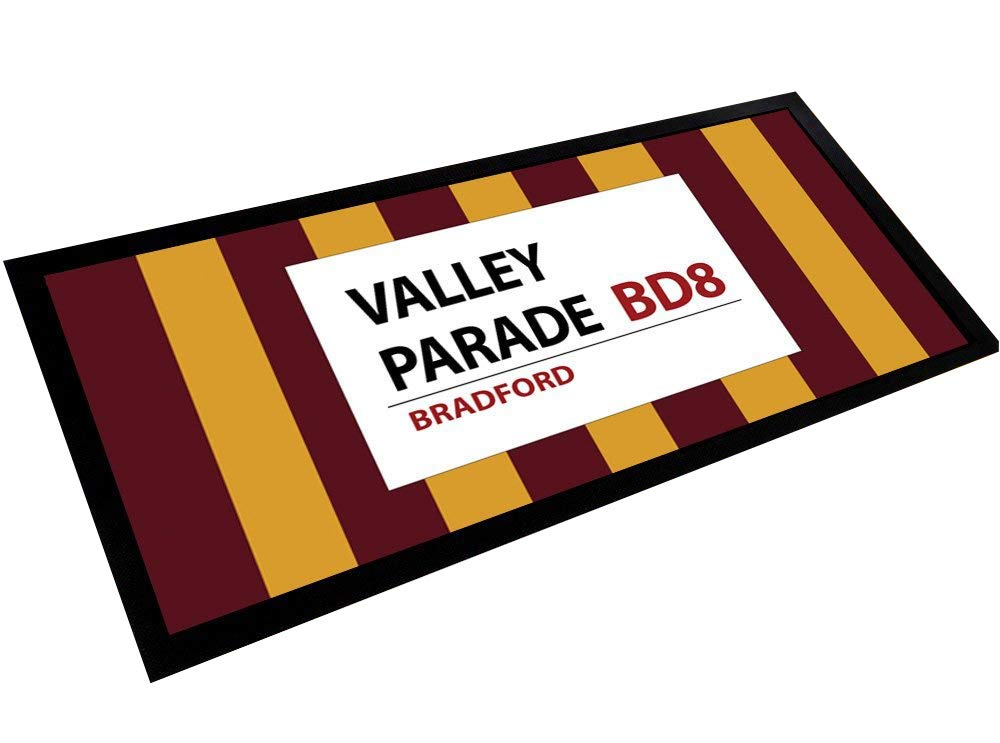 Artylicious Valley Parade Streifen Bradford City Bar Pub Matte Runner Fußmatte Zähler