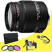 Sigma 18-200mm F3.5-6.3 II DC OS HSM Lens for Nikon SLR Cameras + 62mm 3 Piece Filter Kit + Lens Cap Keeper + Deluxe Starter Kit DavisMAX Bundle