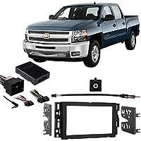 Fits Chevy Silverado Pickup 2012-2013 w/OE NAV DDIN Harness Radio Dash Kit