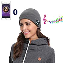 Wireless Headphone Headset Beanie Bluetooth Cap Musical Knit Washable Built-in Mic Speaker Hands-free Phone Call for Outdoor Sports