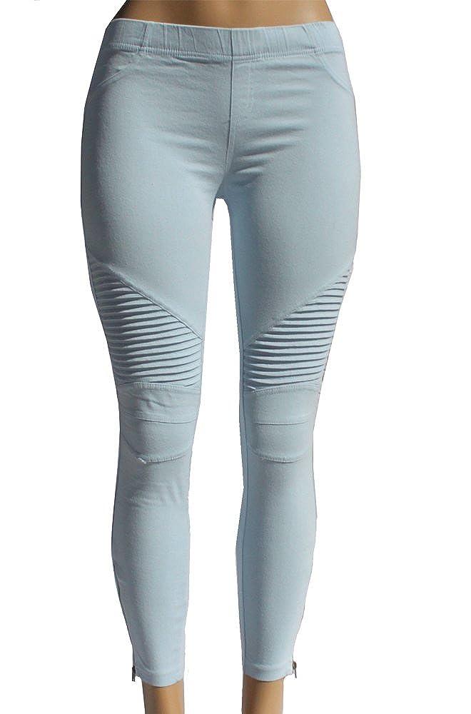 Beulah Women's Ankle Zip Moto Pant OP7019