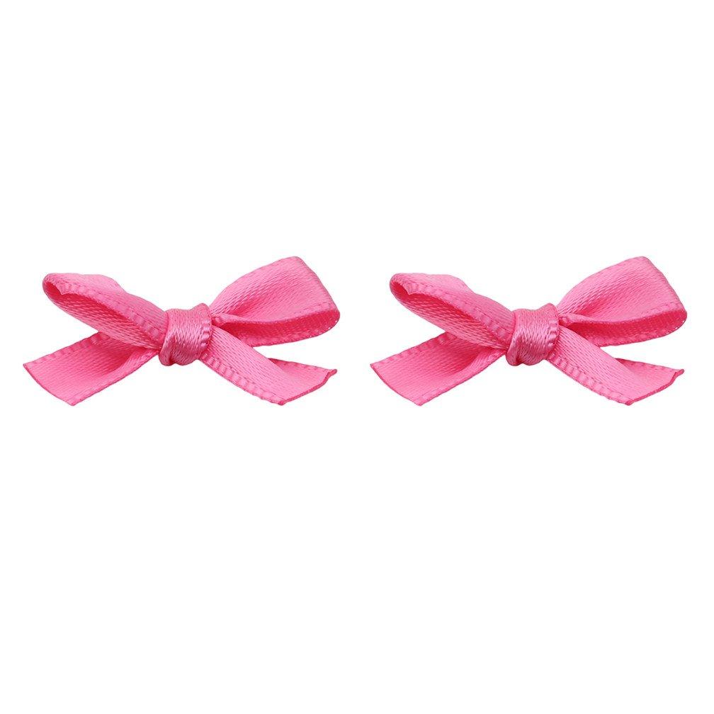 LJSLYJ Fleurs de Ruban de Satin Noeud Papillon Ornement de Décoration de Mariage Artisanat Bricolage Accessoires de Vêtements (Rose)