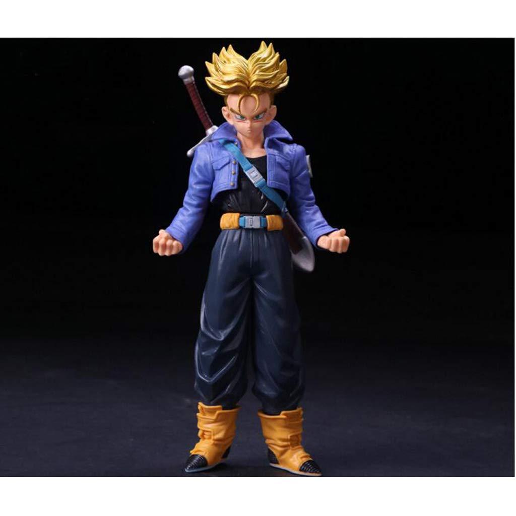 Hyzb Dragon Ball - Super Saiyan Puppet Model PVC Series Boxed Character Toy Decorazione Artigianato Regalo di Festa Game Collector (7,4 Pollici)
