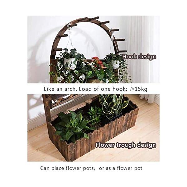 HEMFV Di Legno Solido Planter Box con Trellis Meteo Resistente Outdoor - Raised Elevato Garden Bed Wooden Planter… 4 spesavip