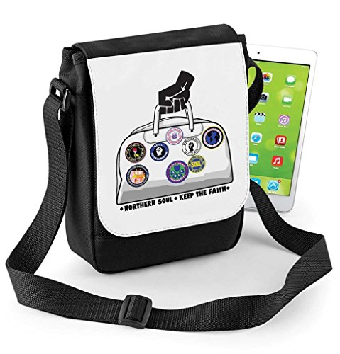 Northern Soul Keep The Faith Holdall Digital Reporter Bag Tablet or Ipad Mini Compatible Digital Reporter Bag