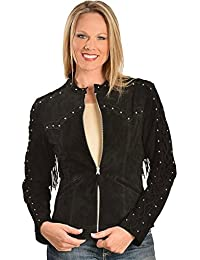 Women's Lace up Sleeve Leather Jacket - L658-19