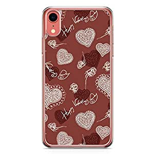 Loud Universe Case For iPhone XR Transparent Edge Valentines Day Couples Love Heart Pattern iPhone XR Cover