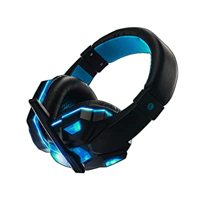 Haxikocty Stereo Gaming Headset 3.5mm for PS4, PC, Xbox One Controller, Noise Cancelling Over Ear Headphones with Mic (1PCS, Black): Clothing