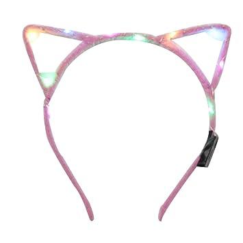 Upper Oreja de Gato LED Diadema Headwear Decoración Accesorio Mujeres Niñas Halloween Fiesta: Amazon.es: Hogar
