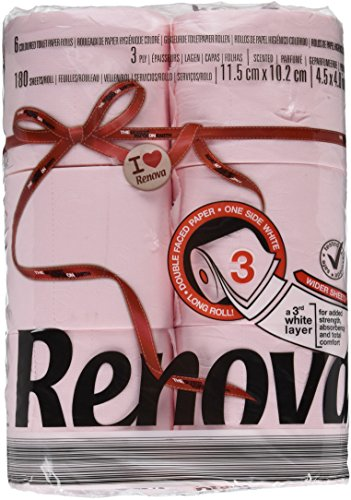 Renova Red Label Maxi Toilet Paper, Rosa