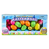 Easter Eggs Bulk, 250 Plastic Easter Eggs, Bright Colors Assortment, Fillable, Fill Your Own Easter Eggs, Comes With 1 Gold Egg, Great for Easter Eggs Hunting and Easter Eggs Basket, By 4E's Novelty