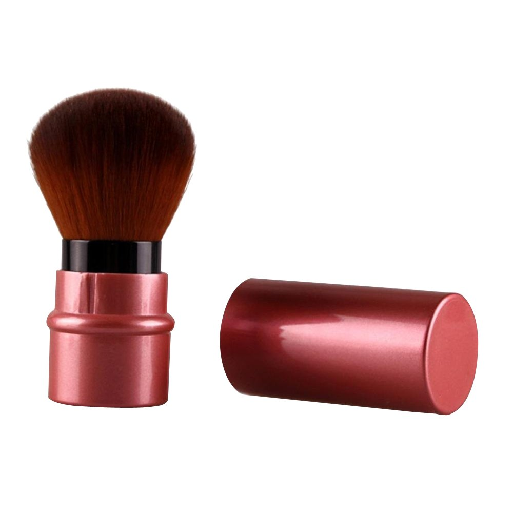 Contever® Retractable Kabuki Cosmetic Brush Blush Powder Foundation Makeup Brush with top Cover -- Red