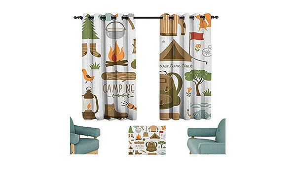 Adventure 10x8 FT Vinyl Backdrop PhotographersCamping Equipment Sleeping Bag Boots Campfire Shovel Hatchet Log Artwork Print Background for Party Home Decor Outdoorsy Theme Shoot Props