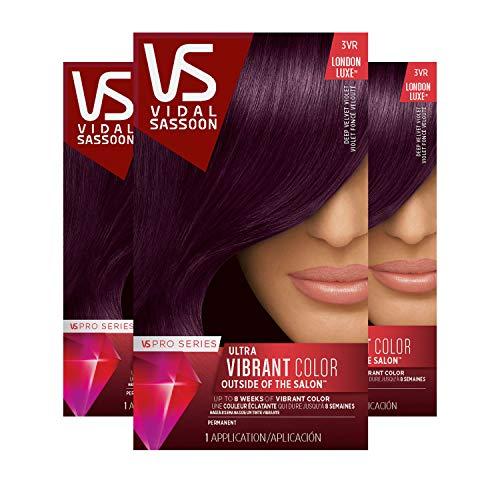 Clairol Vidal Sassoon Pro Series Hair Color, Deep Velvet Violet, 3 Count (Hair Vs Color)