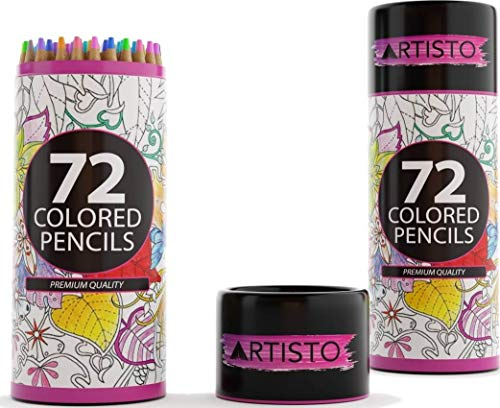 Artisto 72 Colored Pencils, Soft Core, Art Coloring Drawing Pencils for Adult Coloring Book, Sketch,Crafting Projects by Artisto (Image #7)