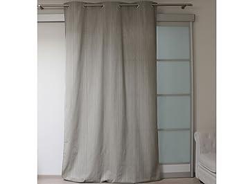 Soleil d\'Ocre 031671 Linen Rideau à Oeillets Lin/Coton/Polyester ...