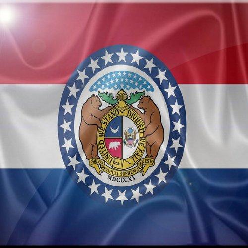 4 by 4-Inch Rikki Knight Missouri State Flag Design Art Ceramic Tile