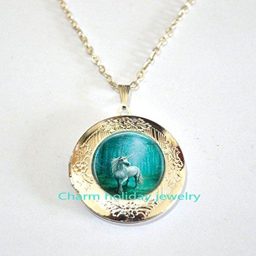Unicorn Locket Necklace, Unicorn Locket Jewellery, Unicorn Gift, Friendship Gift, Fairytale Locket Necklace, Fairytale Jewellery Locket