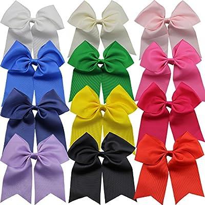 """Coloré Vibrant Solide Hair Bow noeuds 4/"""" avec clip"""