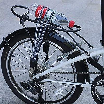 Quskto Bicicleta del Estante del Pannier, Portabicicletas portabicicletas Trasero de Aluminio Porta-Bicicletas Touring Portador de Aluminio Contrapunto Negro Portátil y fácil de Montar: Amazon.es: Hogar