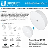 Ubiquiti PBE-M5-400-ISO 2-PACK PowerBeam M5 25dBi ISO 5GHz AirMAX 400mm 25+km
