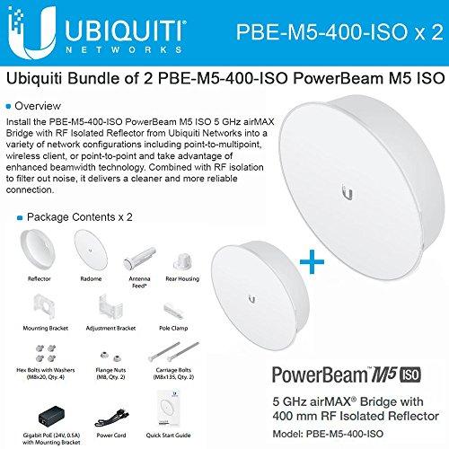Ubiquiti PBE-M5-400-ISO 2-PACK PowerBeam M5 25dBi ISO 5GHz AirMAX 400mm 25+km by Ubiquiti Networks