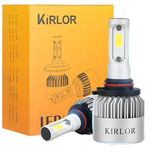 Led Headlight Bulb, kirlor Led Car Lights with COB Chips 8000 Lumens 6000K Cool White Adjustable-Beam Bulbs IP68 Waterproof All-in-One Conversion Kit H11 ( H8,H9 ) - 2 Year Warranty