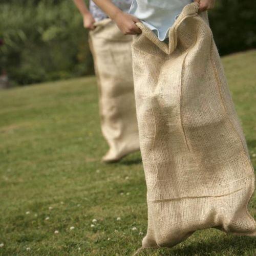 Adult Size Burlap Sack Race Bag 24 x 40 10 Pack