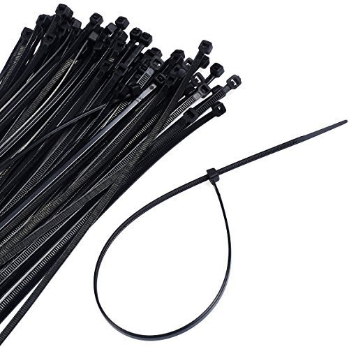 Super buy 1000 10packs 12inch Nylon Plastic Zip Trim Wrap Cable Loop Ties Wire Self Lock by Super buy