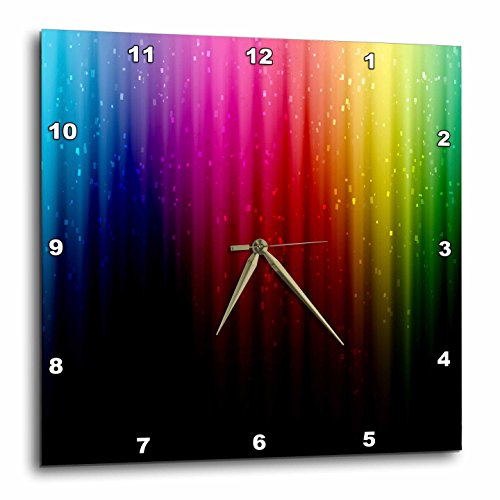 Cheap 3dRose dpp_49041_2 Rainbow of Colors and Light-Multi Colors Span This Creative Rainbow Styled Design-Wall Clock, 13 by 13-Inch
