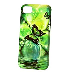 TYH - Case Fun Apple iPhone 5C Case - Vogue Version - 3D Full Wrap - Green Butterfly ending phone case