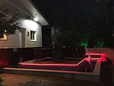 ONO-Tech LED Rope Lights, 16.4ft Flexible RGB Strip Light, Color Changing, Waterproof for Indoor/Outdoor use, Connectable Decorative Lighting, 8 colors and Multiple Modes