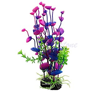 SimpleLife Purple Artificial Water Plant Grass Decor Ornament for Fish Tank Aquarium 22