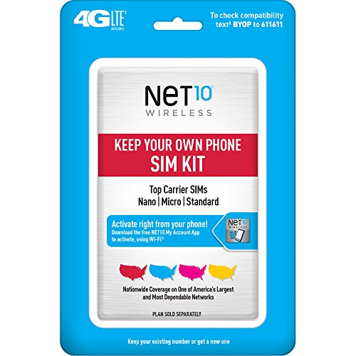 Net10 Keep Your Own Phone 3-in-1 Prepaid SIM Kit