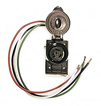 50 Amp Wire Size >> Cep 50 Amp Prewired Receptacle 125 250vac 6 Awg Wire Size