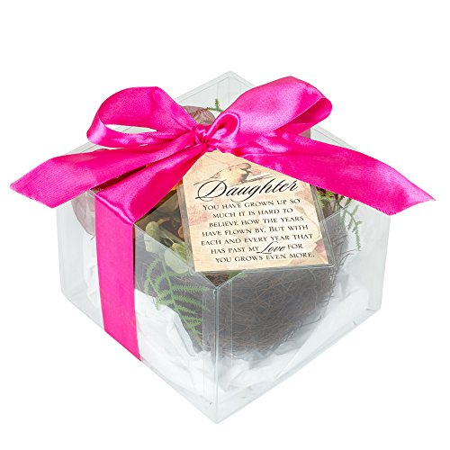 Daughter My Love for You Grows Gift Boxed Floral Bird Nest w