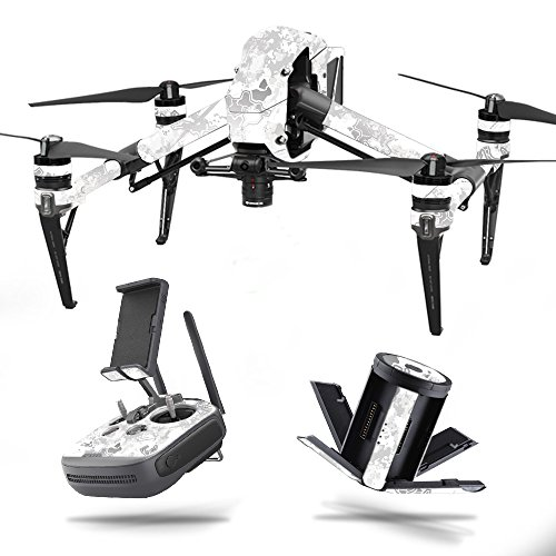MightySkins Skin for DJI Inspire 2 – Viper Snow | Protective, Durable, and Unique Vinyl Decal wrap Cover | Easy to Apply, Remove, and Change Styles | Made in The USA Review