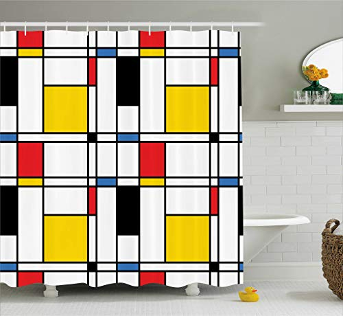 Ambesonne Abstract Home Decor Collection, Geometric Colorful