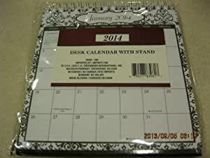 2014 Desk Calendar with Stand