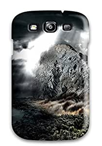 AnnaSanders Case Cover Protector Specially Made For Galaxy S3 Dark Rock Water Clouds Light Spot Digital
