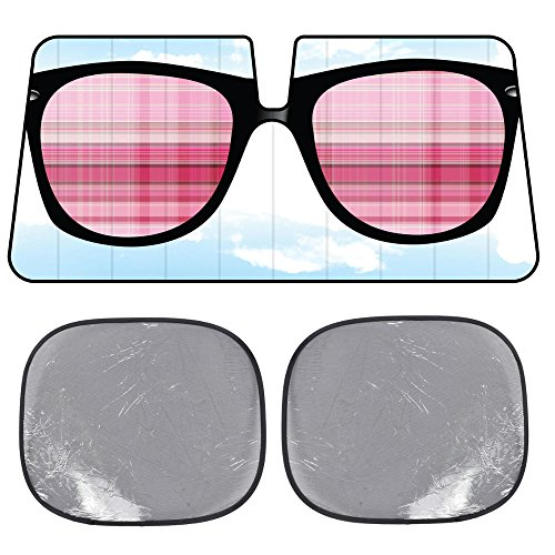 BDK USA Sunglasses SunShade - Cool Shades - Folding Accordion with Static Cling Sun - Sunglasses Ss