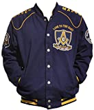 Big Boy Headgear Masons ''Look To The East'' Mens Twill Jacket Extra Large Navy Blue/Gold