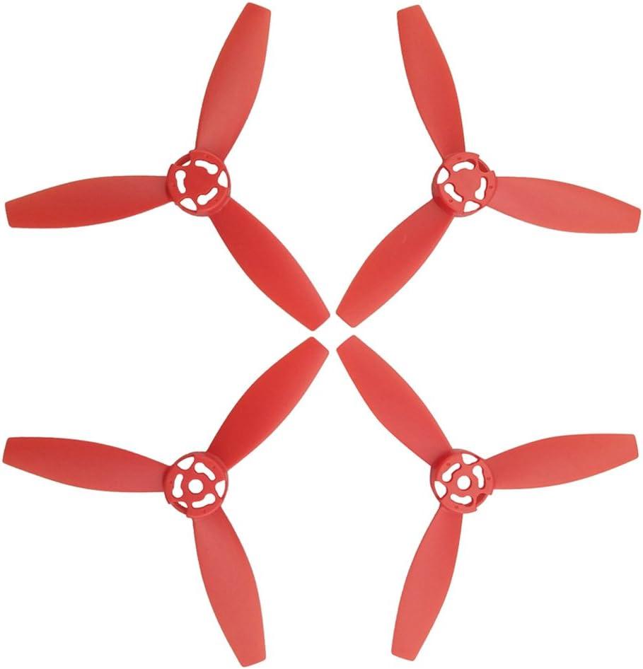 sharprepublic 4 Piezas De Plástico CW CCW Propulsores Hélices Equilibrada Gelatina para Loro Bebop 2 Drone - Rojo