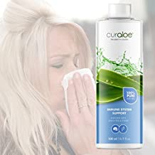 Pure Aloe Vera Juice Plus Immune System Support by Curaloe   Added Herbal Essential Oil Extracts Cleanse & Boost Natural Healing   Fights Disease & Germs   Restores Health, Energy   Organic Drink