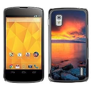 Be Good Phone Accessory // Dura Cáscara cubierta Protectora Caso Carcasa Funda de Protección para LG Google Nexus 4 E960 // Sunset Beautiful Nature 36