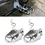 Qiilu Stainless Steel A Pair Adjustable Motorcycle Front Footrest Foot Pegs for F800GS F700GS F650GS R1150GS Yamaha WR25