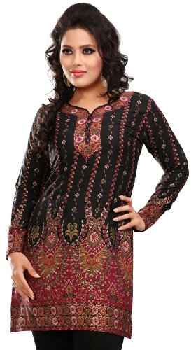 Indian Tunic Top Womens Kurti Printed Blouse India