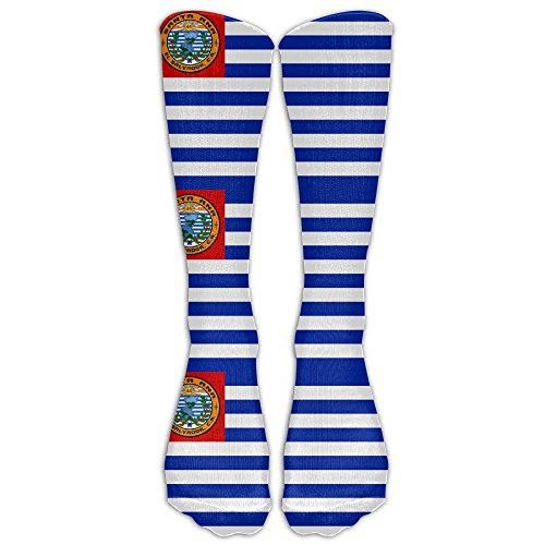 Futong Huaxia Santa Ana El Salvador Flag Mens Womens Funny Dress Athletic Work Long Knee High Stockings Tights One Size