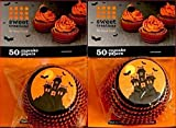 LOT 12 SWEET CREATIONS HALLOWEEN HAUNTED HOUSE CUPCAKE PAPERS, 50 LINERS EACH