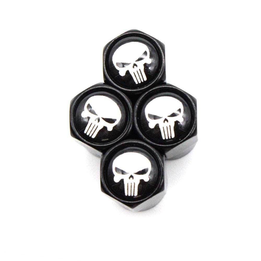 4 Pcs/Set Car Styling Aluminium Alloy/Copper Skull Logo Car Tire Valve Caps Wheel Tires Tire Stem Air Cap Airtight Covers